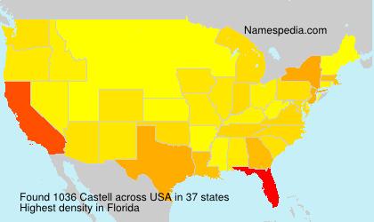 Familiennamen Castell - USA