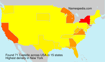 Surname Castelle in USA
