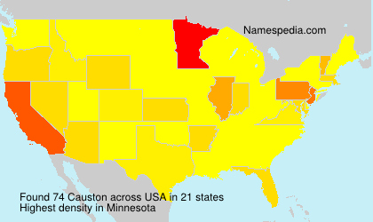 Surname Causton in USA