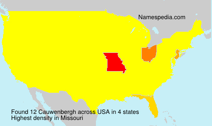 Surname Cauwenbergh in USA