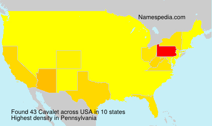 Surname Cavalet in USA