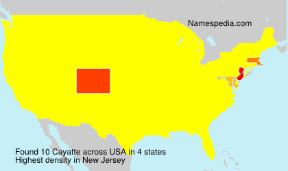 Surname Cayatte in USA