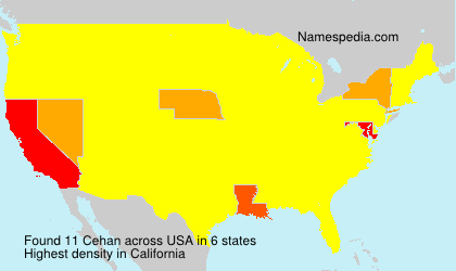 Surname Cehan in USA