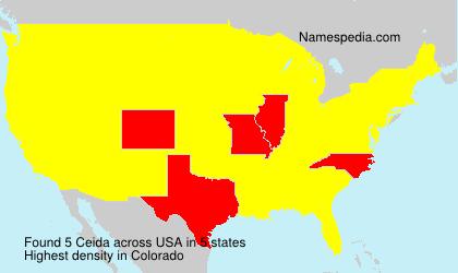 Familiennamen Ceida - USA