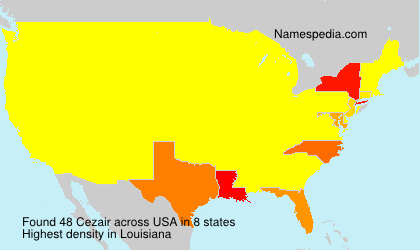 Familiennamen Cezair - USA