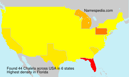 Surname Chalela in USA
