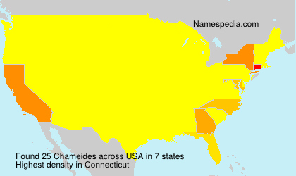 Surname Chameides in USA