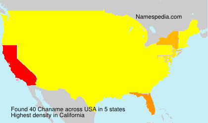 Surname Chaname in USA