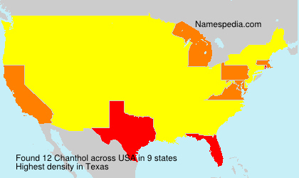 Surname Chanthol in USA