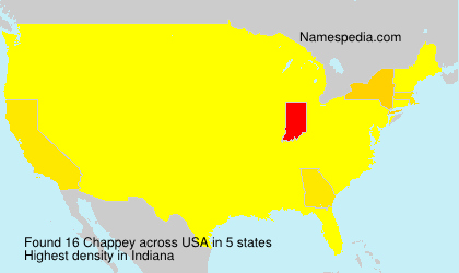 Surname Chappey in USA