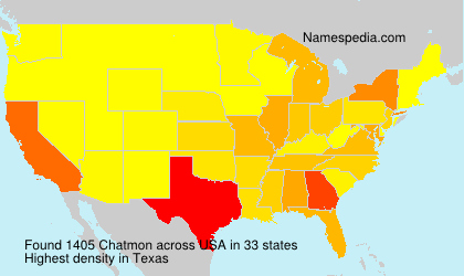 Surname Chatmon in USA