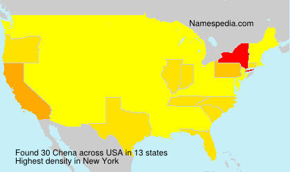Surname Chena in USA
