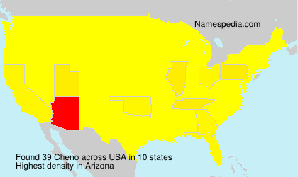 Surname Cheno in USA