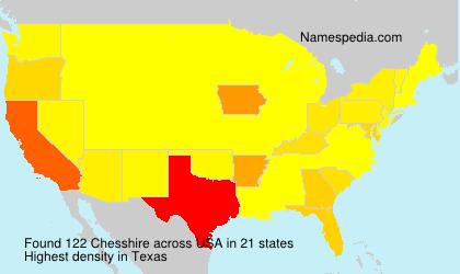 Surname Chesshire in USA