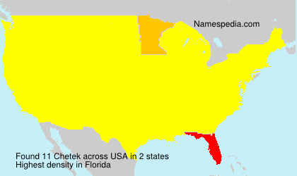 Surname Chetek in USA