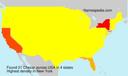 Familiennamen Chezar - USA