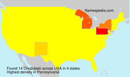 Surname Chodubski in USA