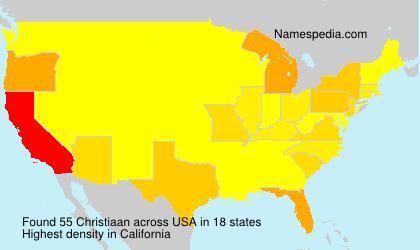 Familiennamen Christiaan - USA