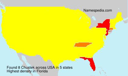 Surname Chustek in USA