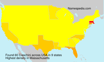 Surname Ciaschini in USA