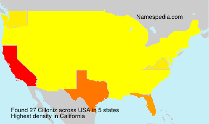 Surname Cilloniz in USA