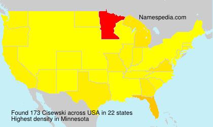 Familiennamen Cisewski - USA