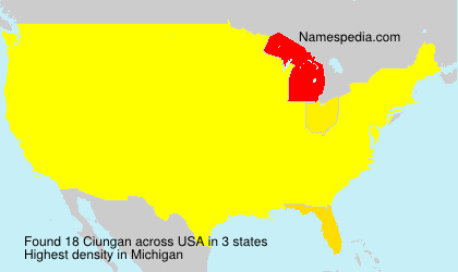 Surname Ciungan in USA