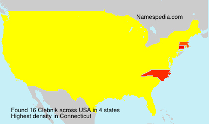 Surname Clebnik in USA