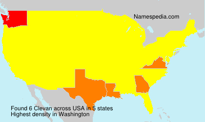 Surname Clevan in USA
