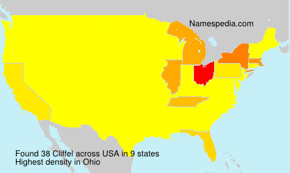 Surname Cliffel in USA