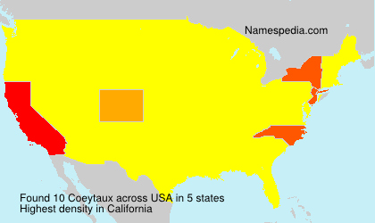Surname Coeytaux in USA