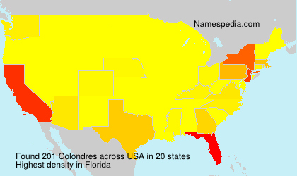 Surname Colondres in USA