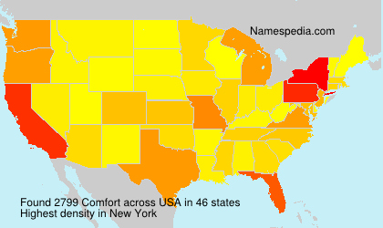 Surname Comfort in USA