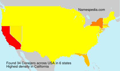 Surname Conejero in USA