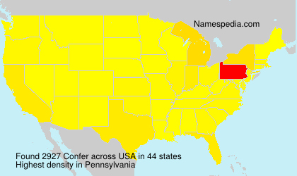 Surname Confer in USA