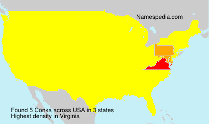 Surname Conka in USA