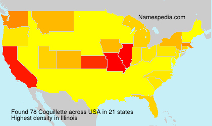 Surname Coquillette in USA