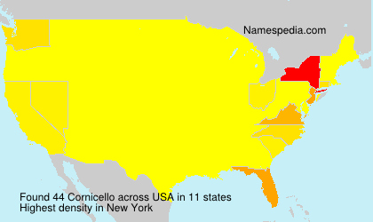 Surname Cornicello in USA