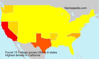 Surname Cotlage in USA