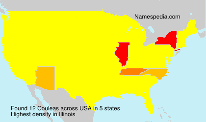 Surname Couleas in USA
