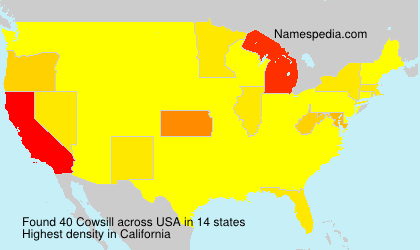 Surname Cowsill in USA