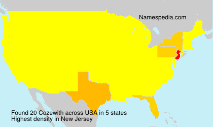 Surname Cozewith in USA