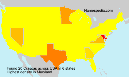 Surname Crassas in USA
