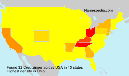 Surname Creutzinger in USA