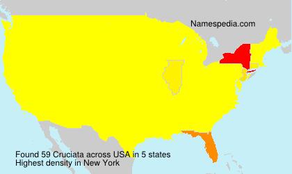Familiennamen Cruciata - USA