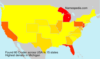 Surname Cruder in USA