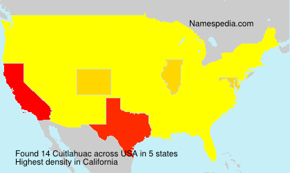 Surname Cuitlahuac in USA