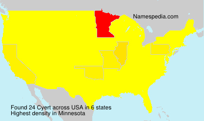 Surname Cyert in USA