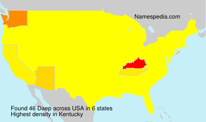 Surname Daep in USA