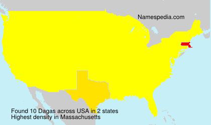 Surname Dagas in USA